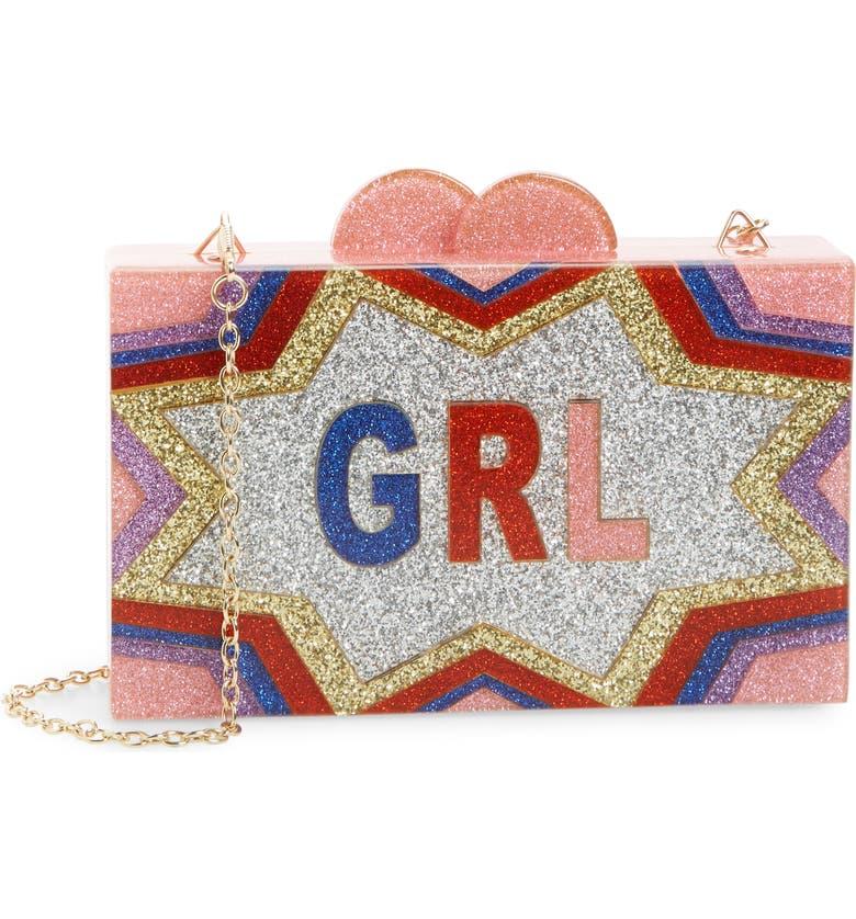 BARI LYNN GRL Power Box Shoulder Bag, Main, color, MULTI