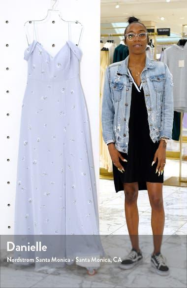 Priya Cold Shoulder Floral Chiffon Evening Dress, sales video thumbnail