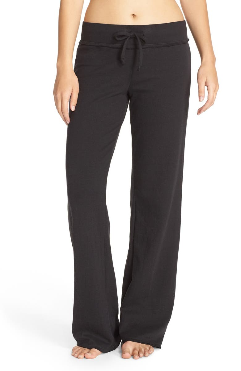 NORDSTROM LINGERIE 'Lazy Mornings' Lounge Pants, Main, color, BLACK