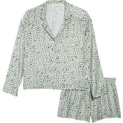 Saltwater Luxe Floral Short Pajamas, Green