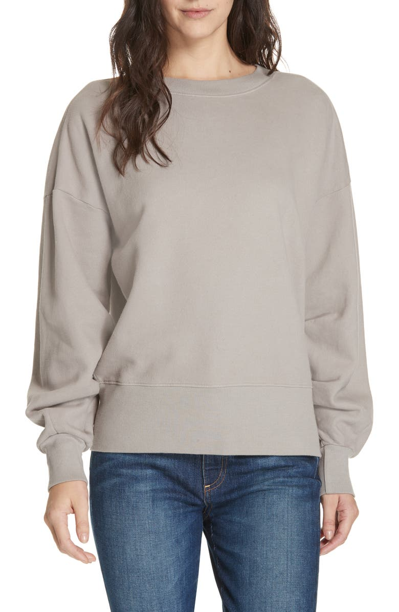 BROCHU WALKER Granada Cotton Sweatshirt, Main, color, WREN