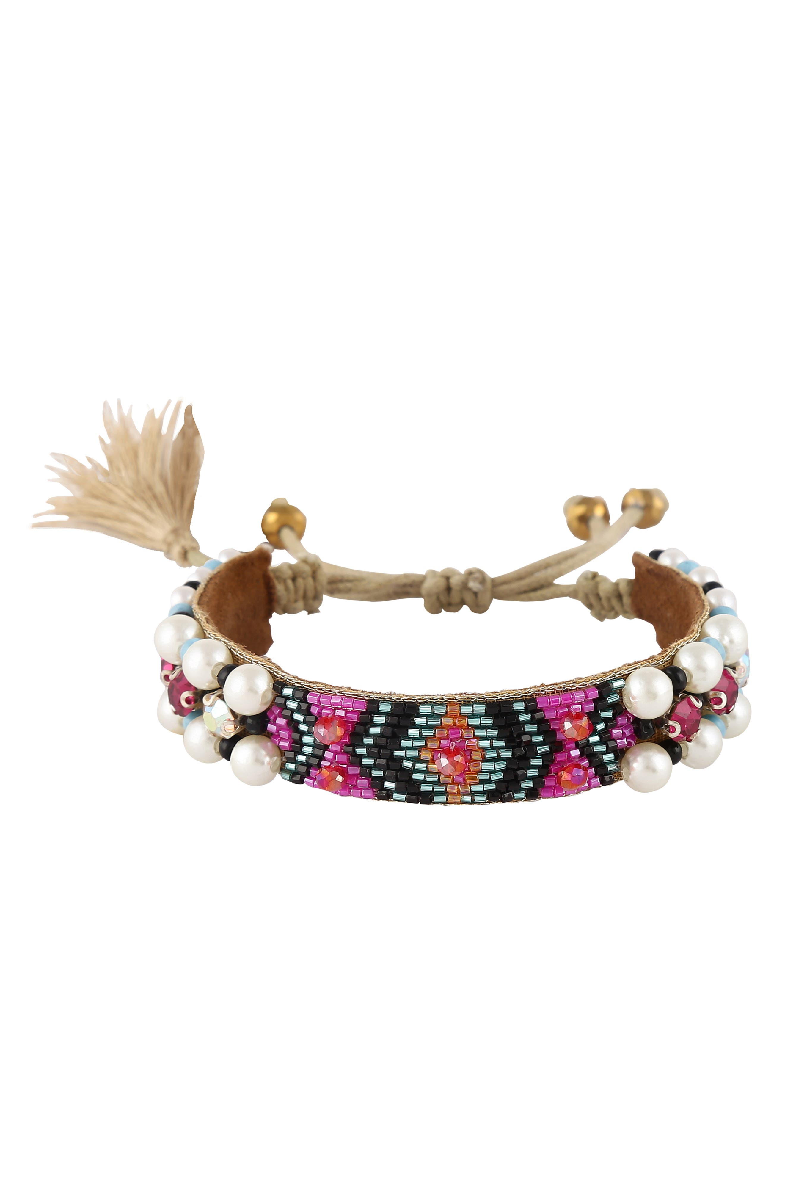 Women's Deep Gurnani Indigo Beaded Bracelet