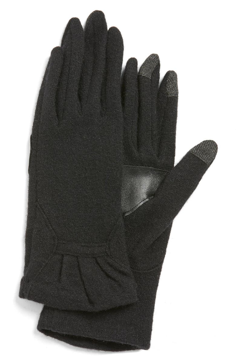 ECHO 'Touch - Ruffle' Tech Gloves, Main, color, 001