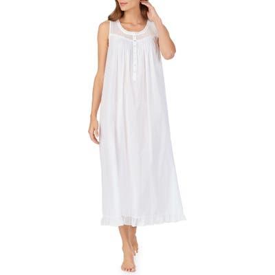 Eileen West Swiss Dot Cotton Nightgown, White