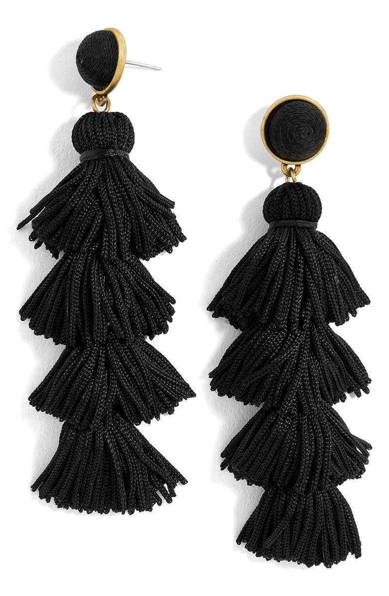 BAUBLEBAR Taylor Tassel Drop Earrings, Main, color, 001