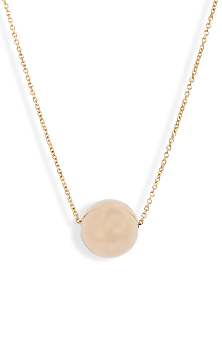BONY LEVY 14K Gold Ball Pendant Necklace, Main, color, YELLOW GOLD