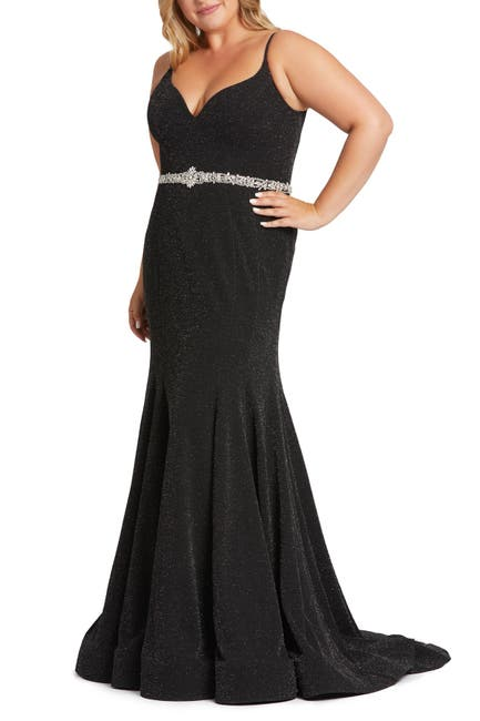 Image of FABULOUSS BY MAC DUGGAL Sweetheart Sparkle Trumpet Dress