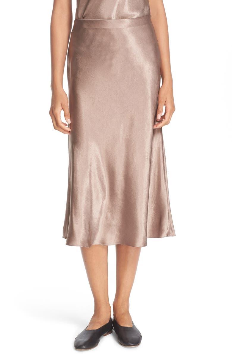 f7e21476e8 Satin Flare Midi Skirt, Main, color, 246