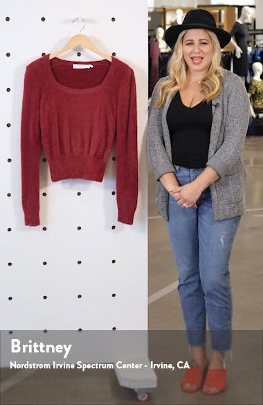 Fuzzy Crop Sweater, sales video thumbnail