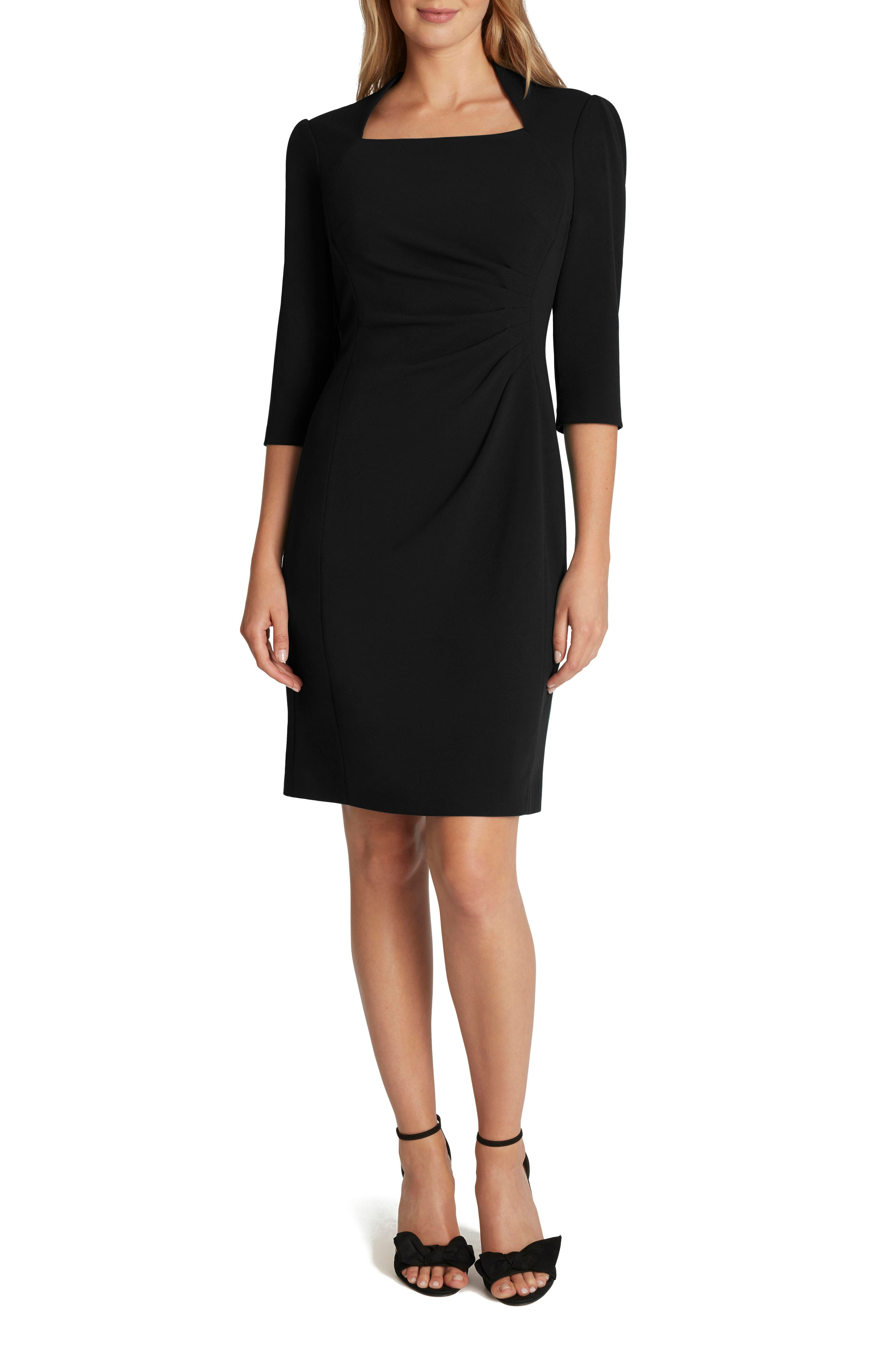 Tahari Square Neck Sheath Dress | Nordstrom