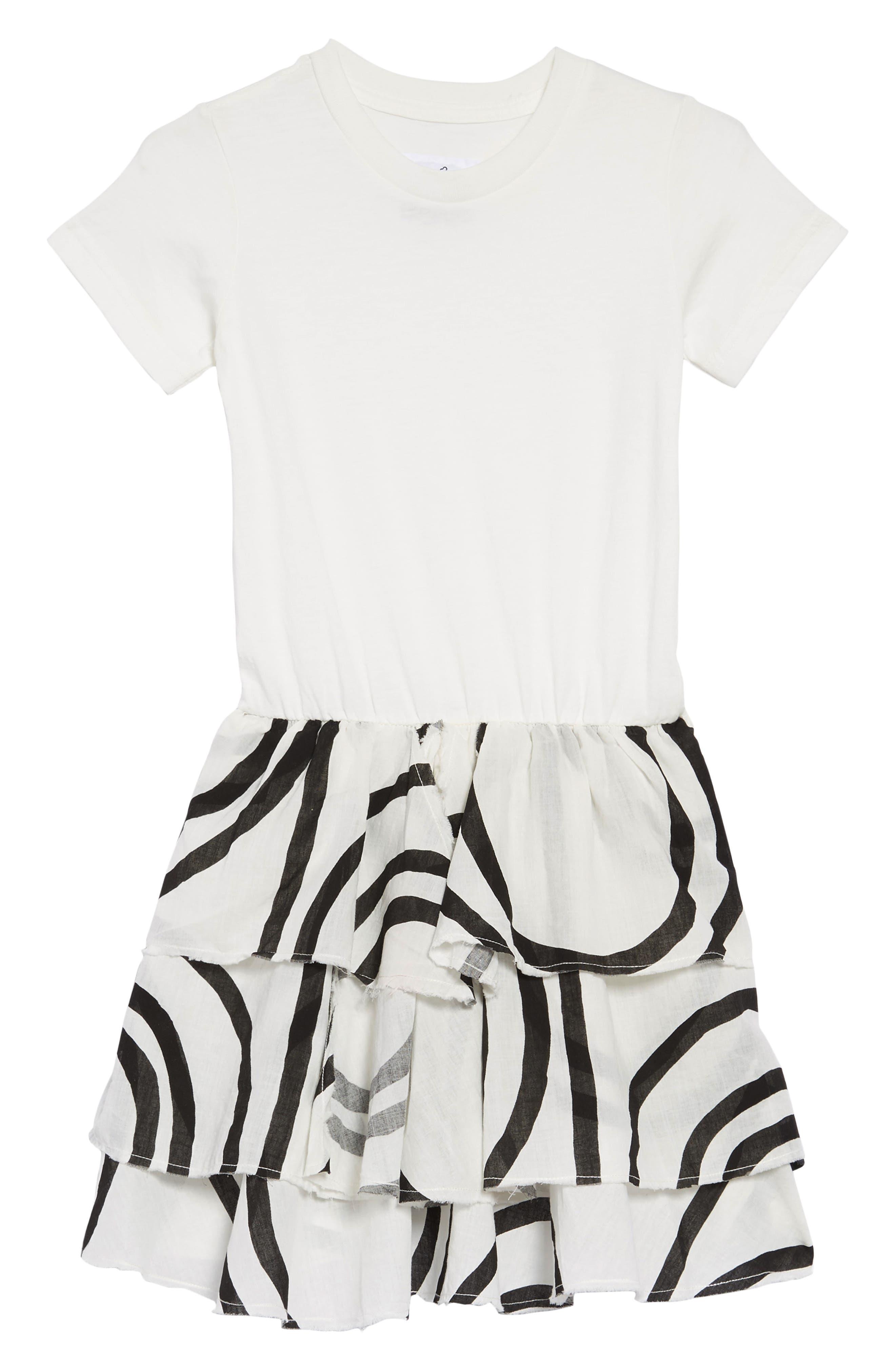 Layered Circle Dress, Main, color, WHITE
