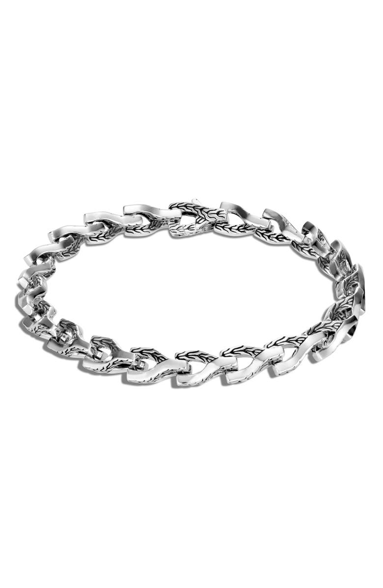 JOHN HARDY Men's Asli 7mm Link Bracelet, Main, color, SILVER