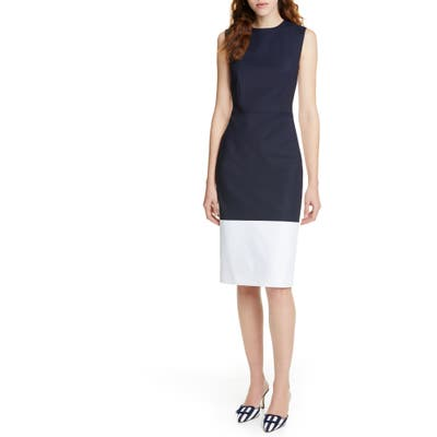 Judith & Charles Belize Colorblock Sheath Dress, Blue