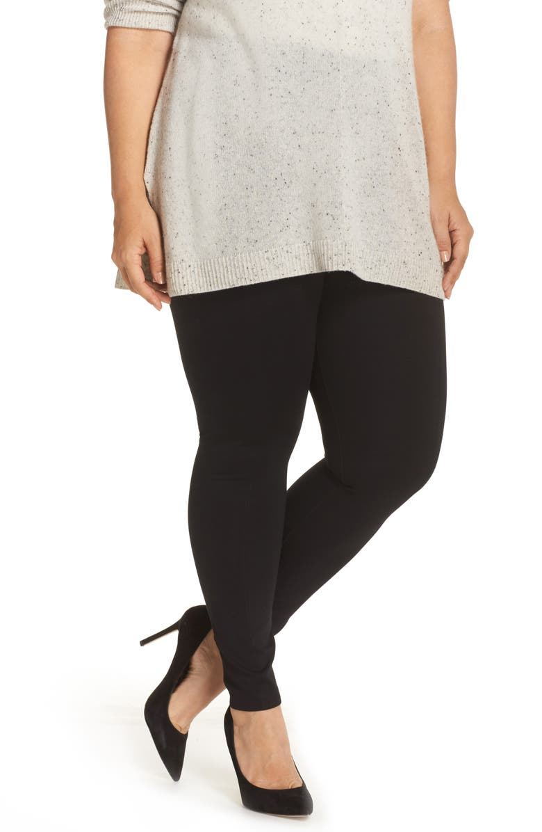 LYSSÉ Center Seam Ponte Leggings, Main, color, BLACK