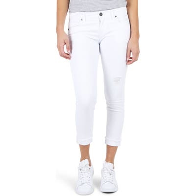 Petite Kut From The Kloth Amy Crop White Jeans, White