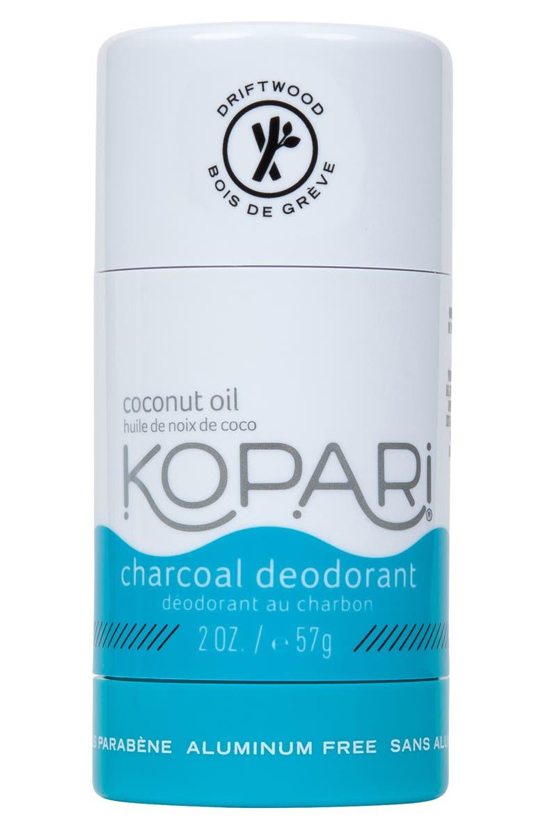 KOPARI Natural Coconut Charcoal Deodorant, Main, color, CHARCOAL