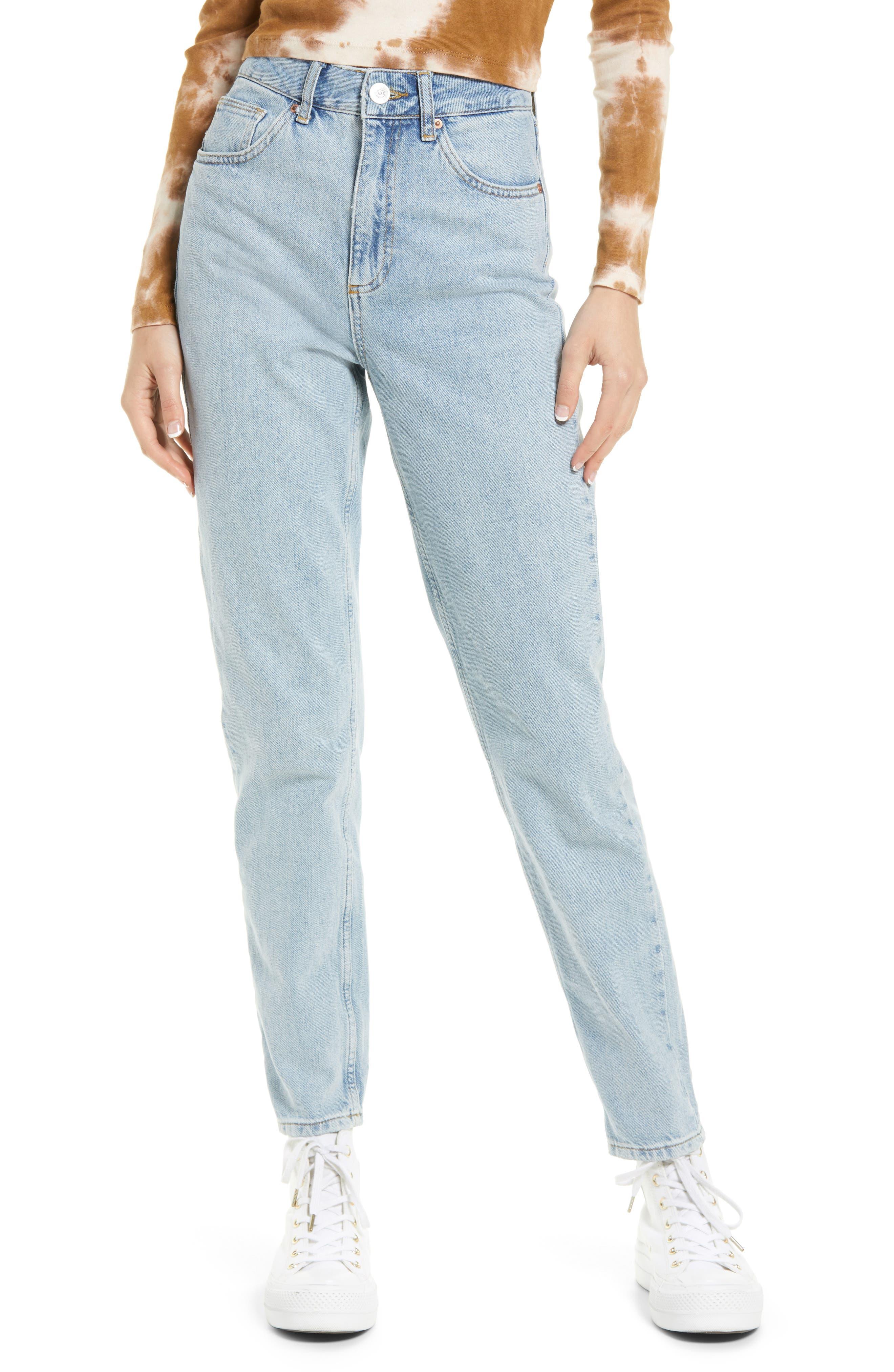 Straight Leg Mom Jeans