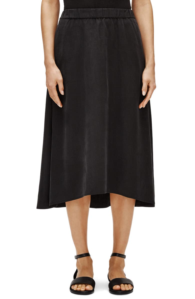 EILEEN FISHER A-Line Skirt, Main, color, 001