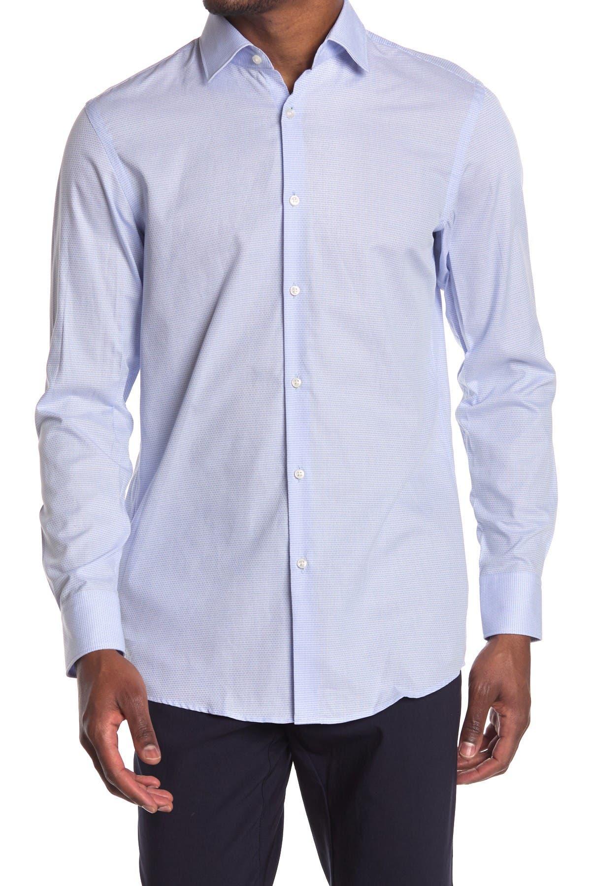 Image of BOSS Mabel Micro Print Long Sleeve Shirt