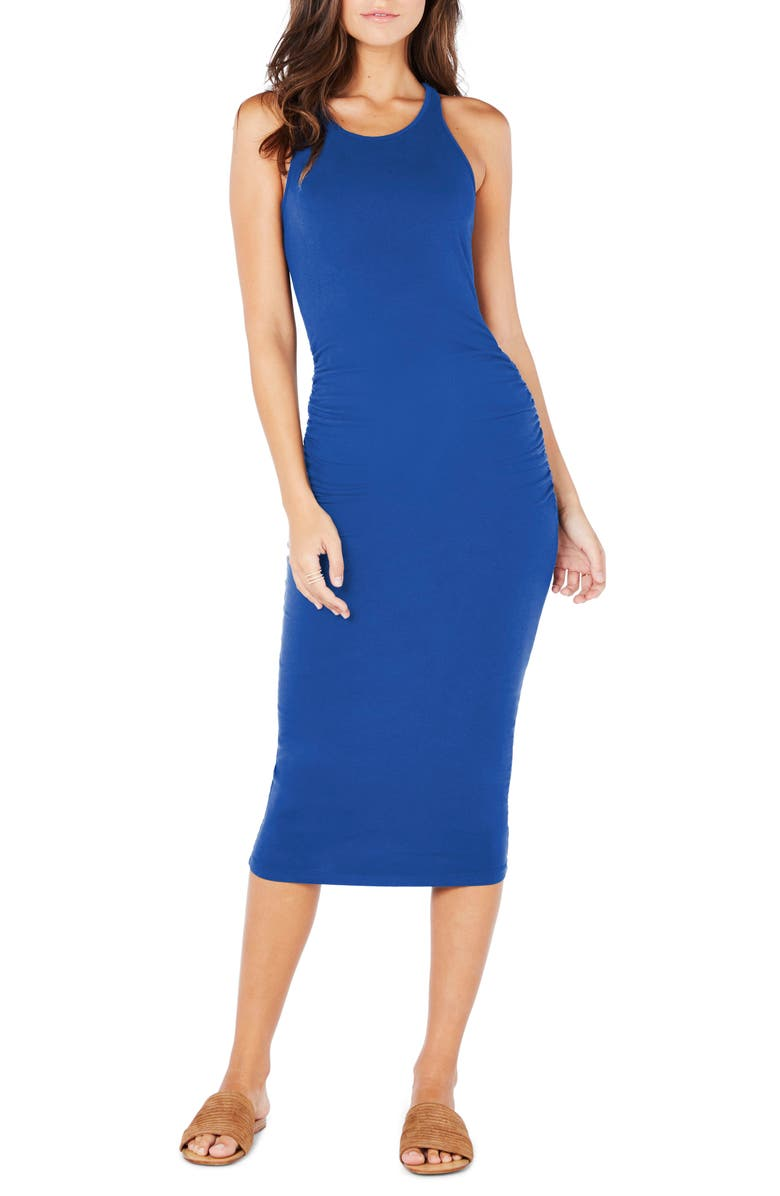MICHAEL STARS Racerback Midi Dress, Main, color, MARINA