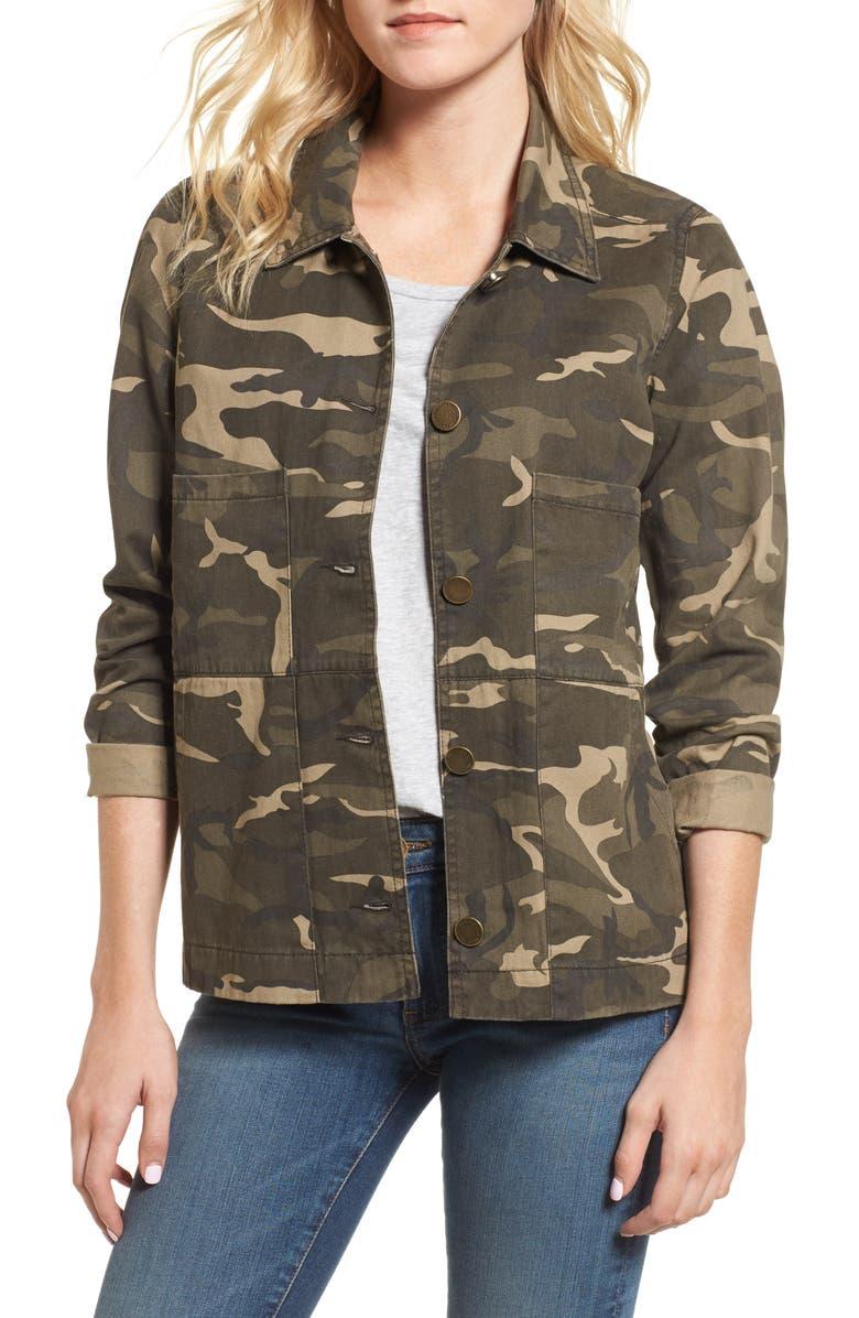WIT & WISDOM Camo Jacket, Main, color, 310