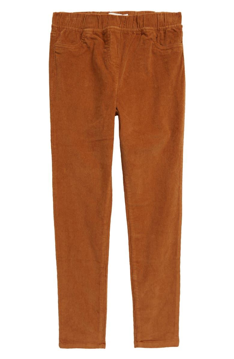 MINI BODEN Corduroy Leggings, Main, color, BUTTERSCOTCH BROWN
