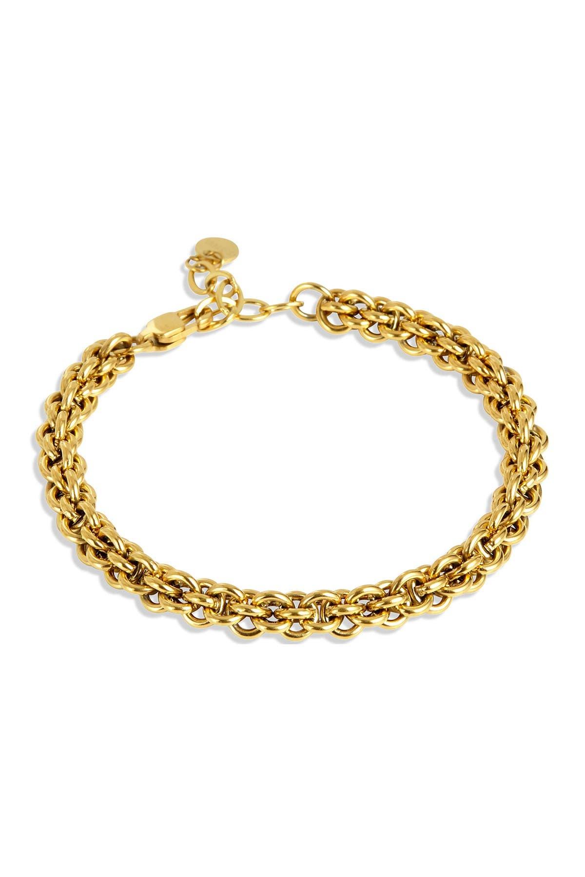 Image of Savvy Cie 14K Gold Plated Link Bracelet