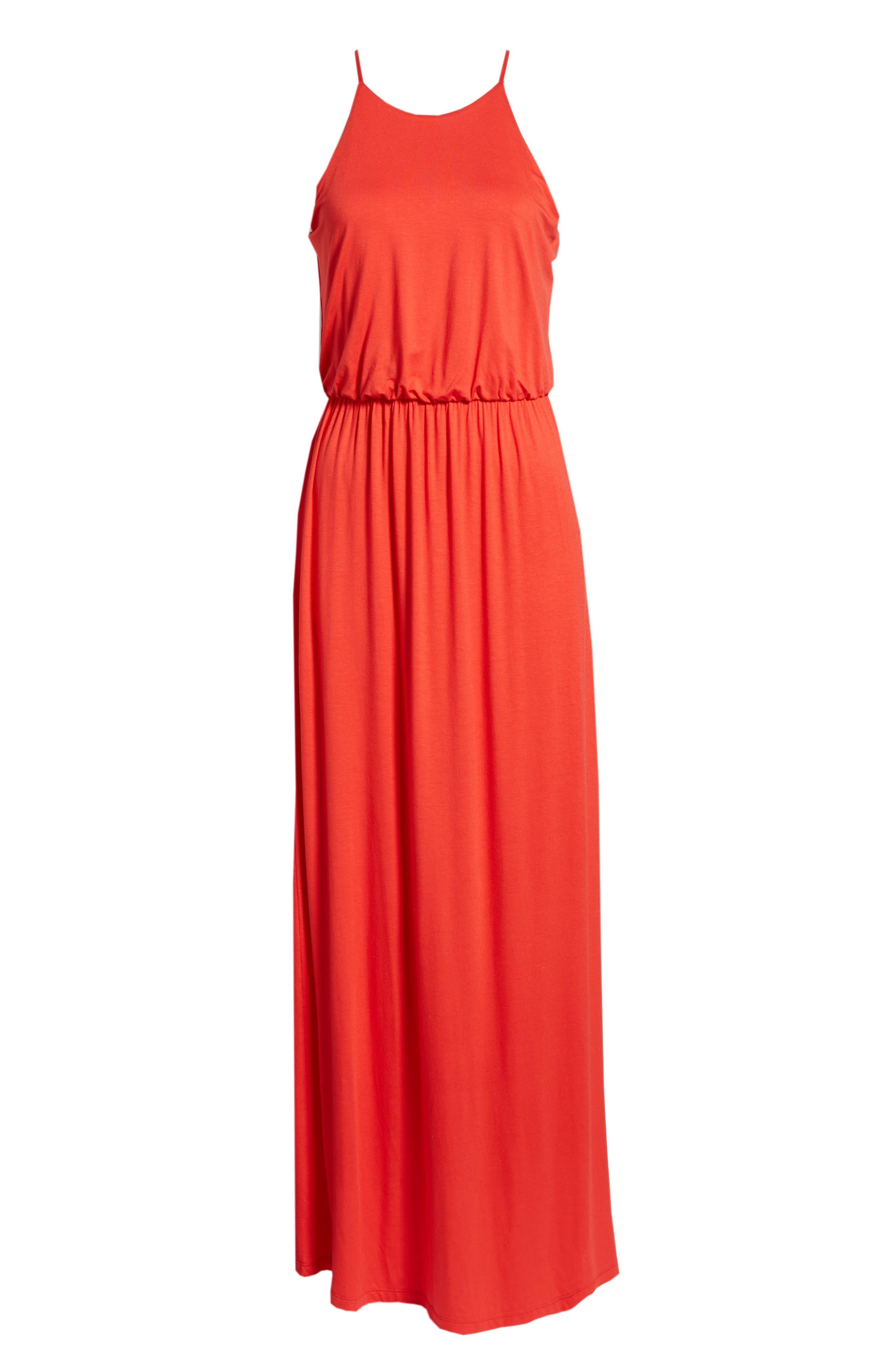 ,                             High Neck Maxi Dress,                             Alternate thumbnail 28, color,                             602