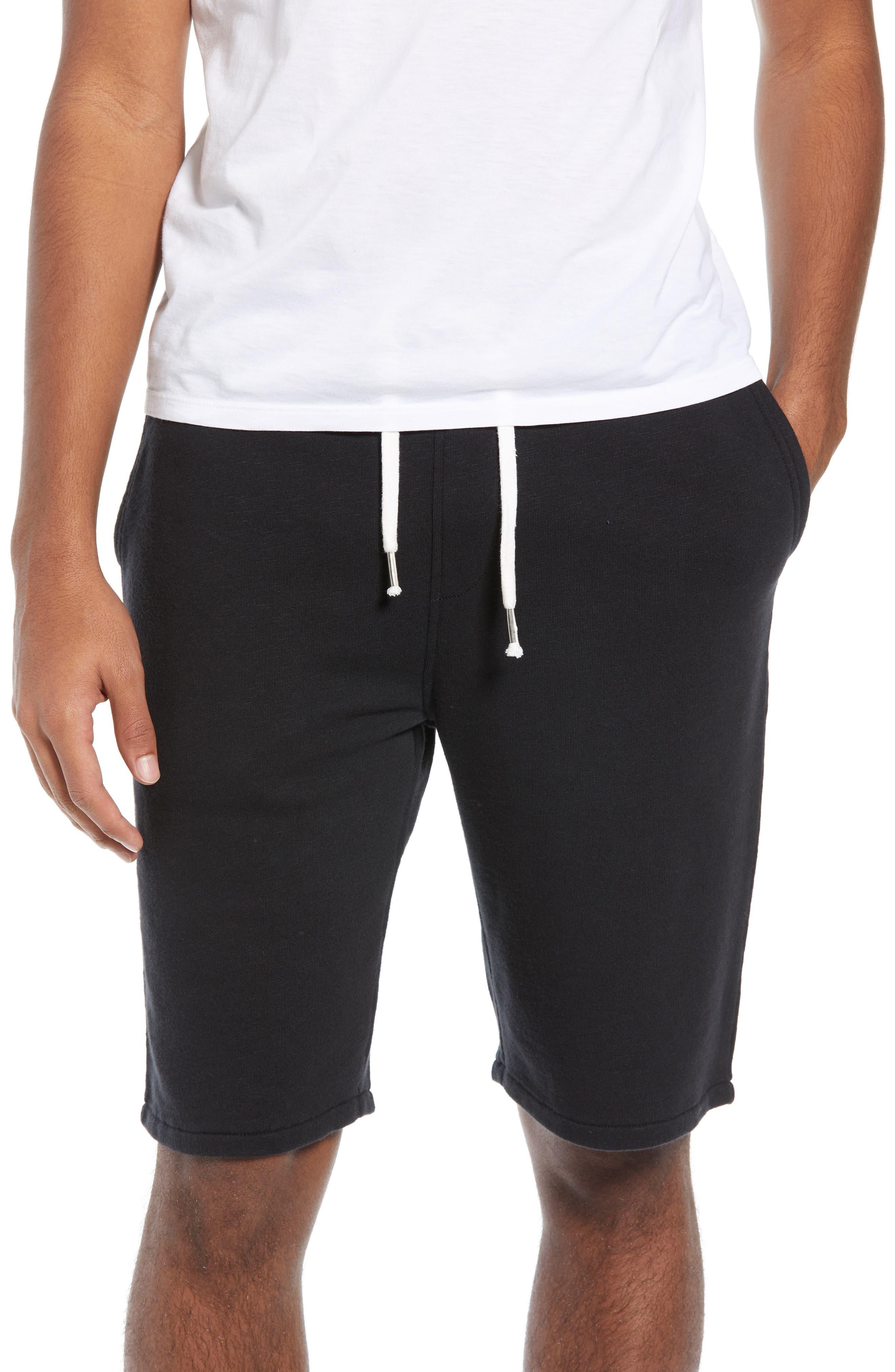 ,                             Terry Athletic Shorts,                             Main thumbnail 1, color,                             BLACK ROCK