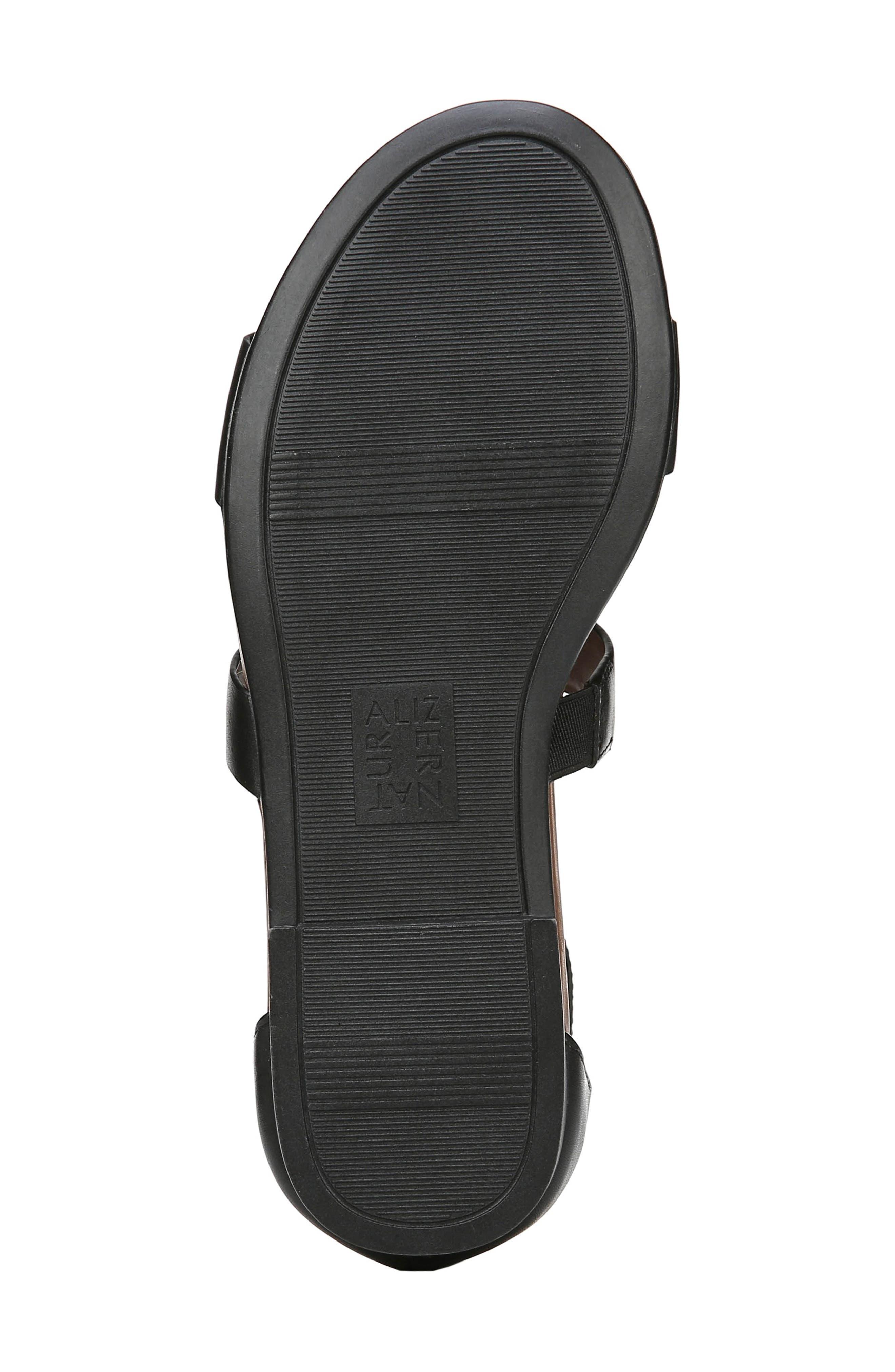 ,                             Tish Sandal,                             Alternate thumbnail 6, color,                             BLACK LEATHER