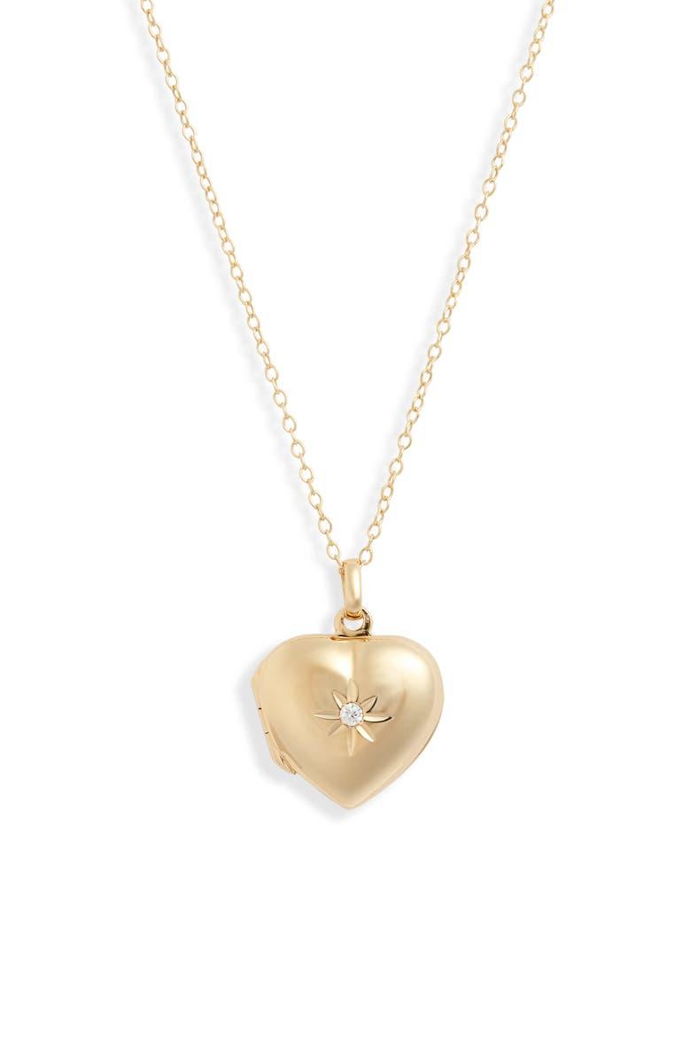 ARGENTO VIVO Heart Locket Necklace, Main, color, 710