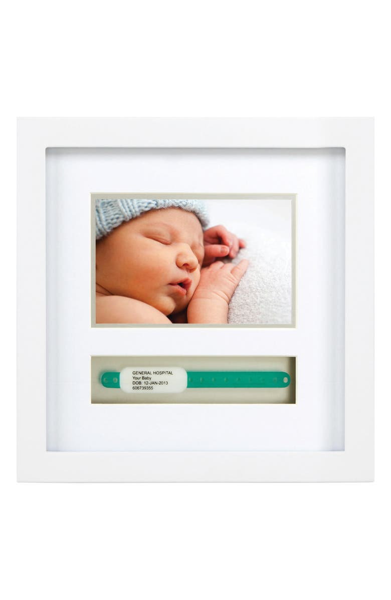 PEARHEAD ID Bracelet Picture Frame, Main, color, WHITE