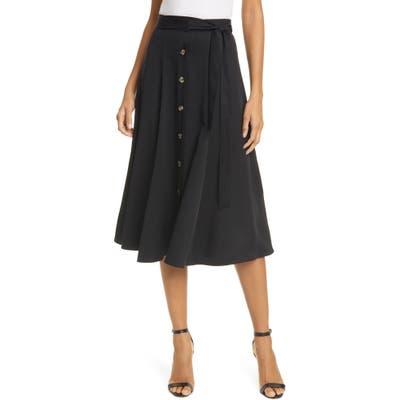 Whistles Marissa Button Front Midi Skirt, US - Black