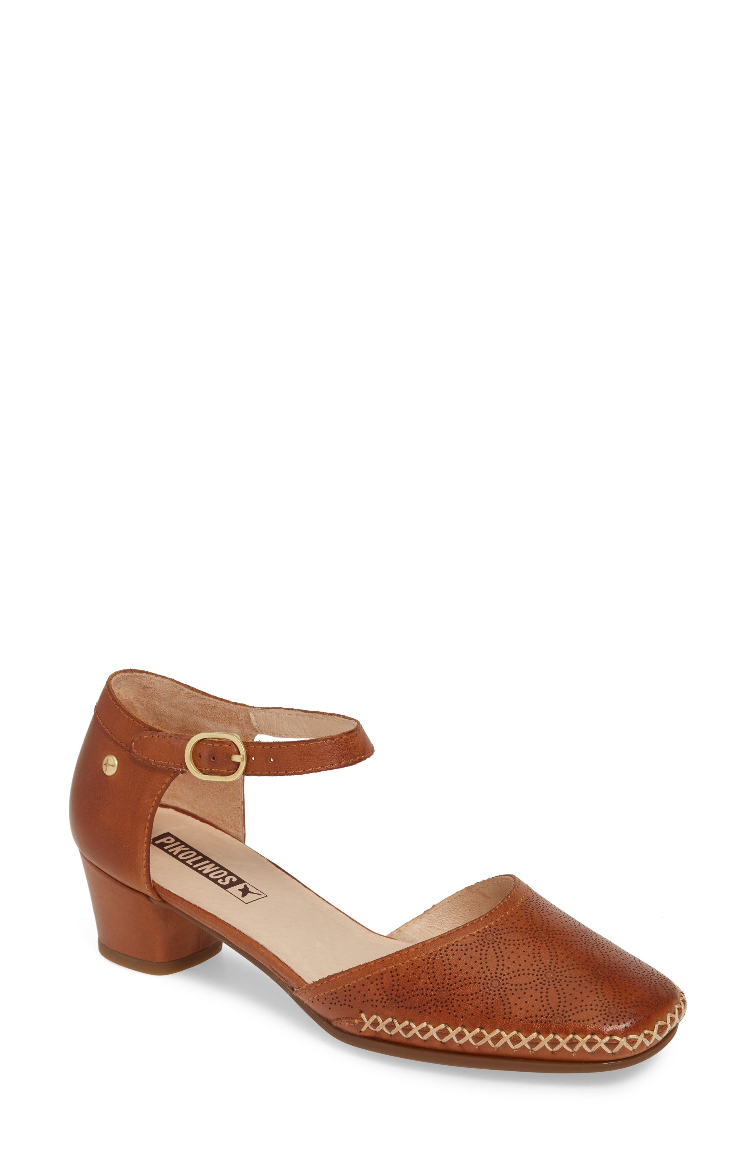 Pikolinos Gomera Ankle Strap Pump, Brown