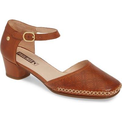 Pikolinos Gomera Ankle Strap Pump, Brown