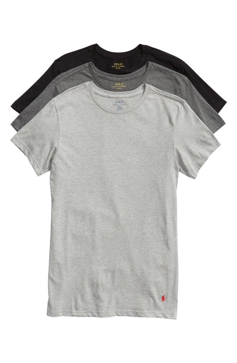 POLO RALPH LAUREN 3-Pack Slim Fit Crewneck T-Shirts, Main, color, ANH/MAH/PB