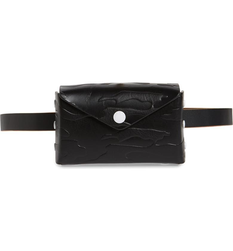 RAG & BONE Atlas Leather Belt Bag, Main, color, BLACK