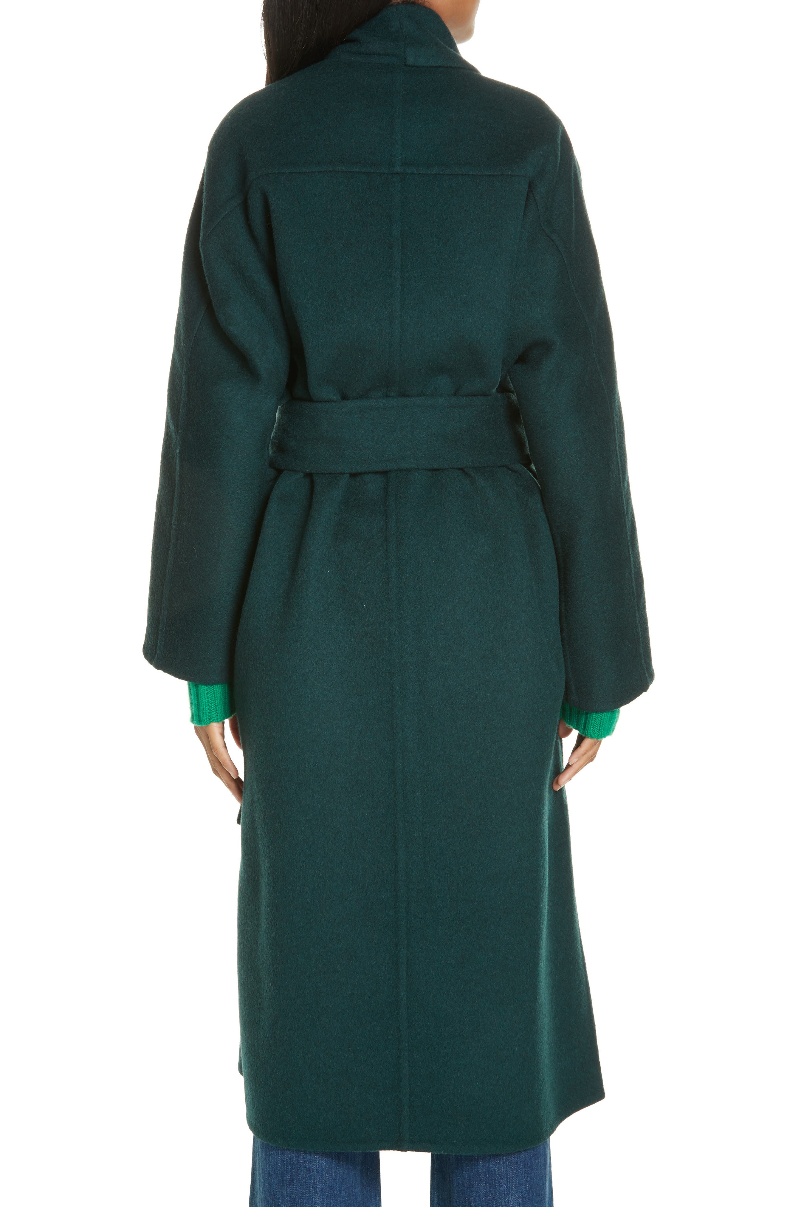 ,                             Belted Wool Blend Cozy Coat,                             Alternate thumbnail 2, color,                             306