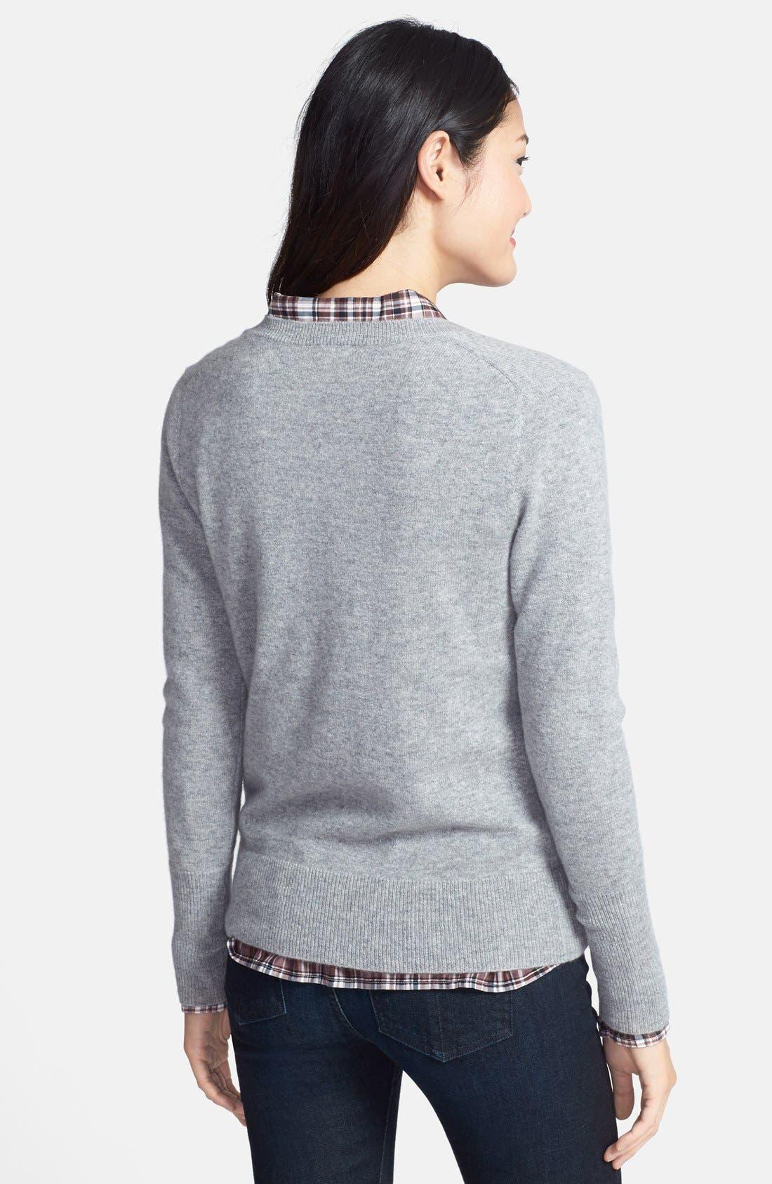 ,                             Cashmere V-Neck Sweater,                             Alternate thumbnail 14, color,                             031