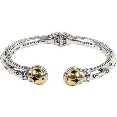 Konstantino Astria Starburst Sterling Silver Cuff Bracelet