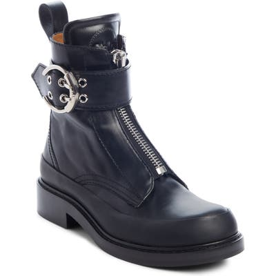 Chloe Roy Zip Front Combat Boot - Black