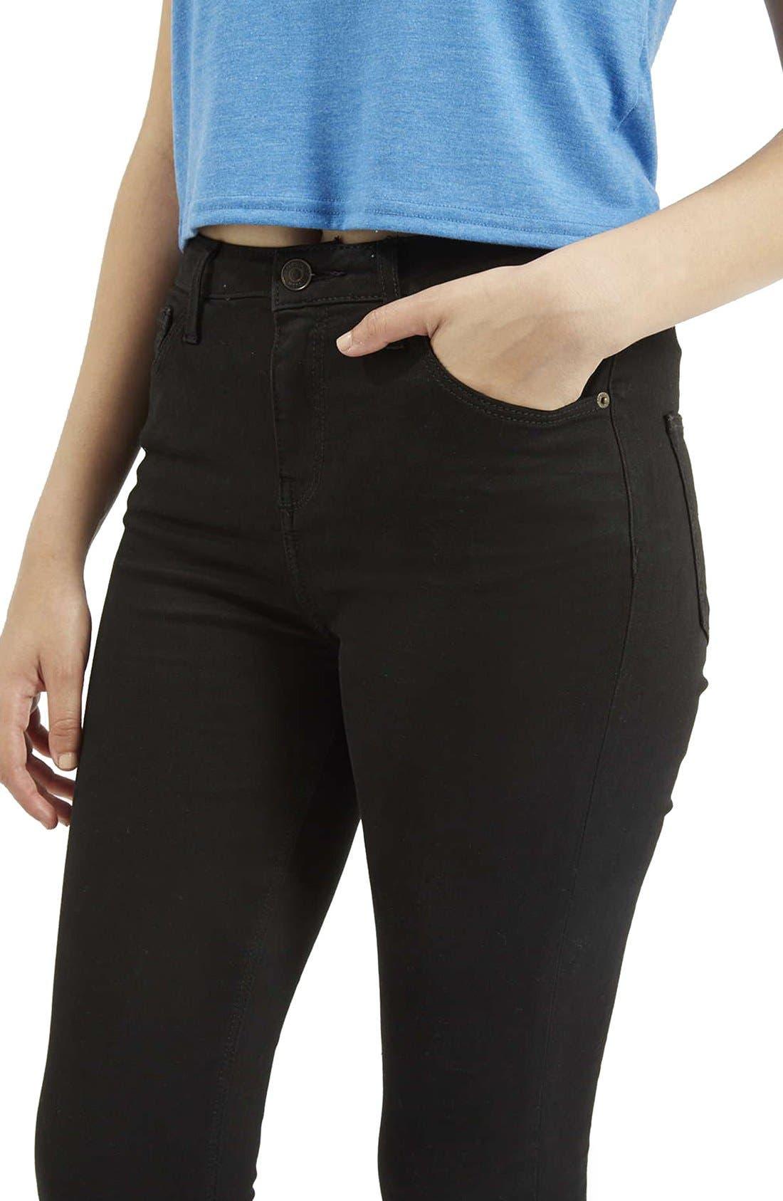 ,                             Moto Jamie High Waist Ankle Skinny Jeans,                             Alternate thumbnail 5, color,                             001