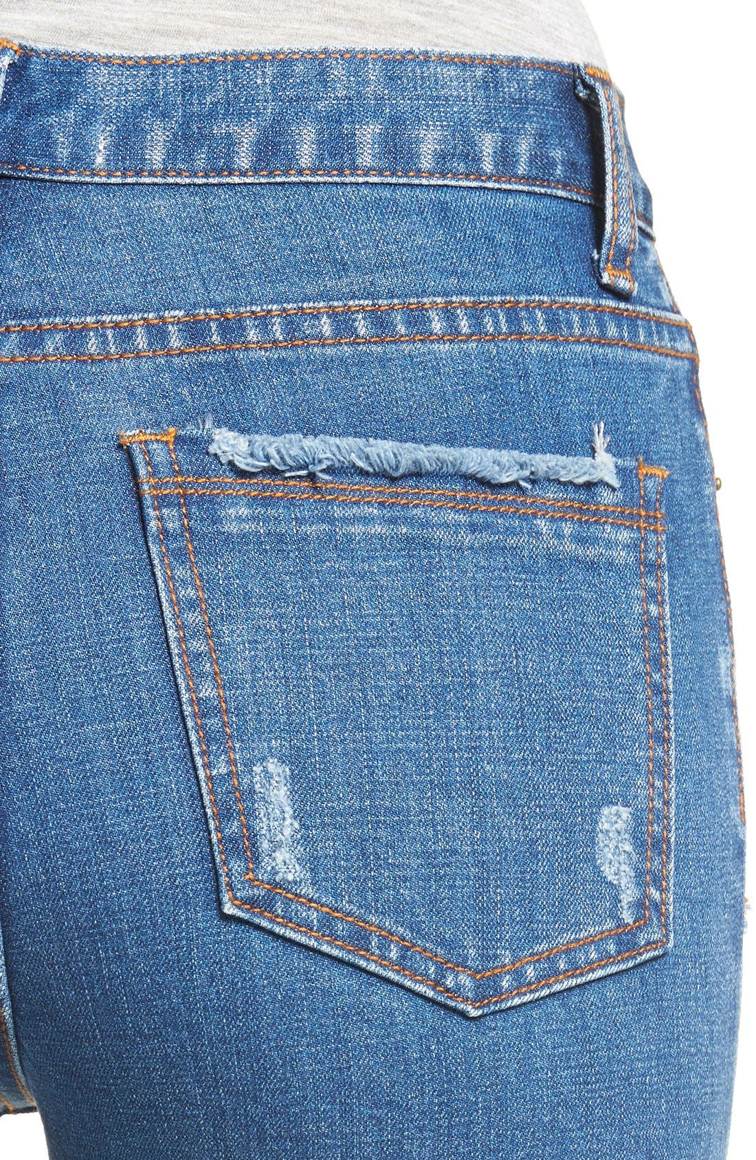 ,                             Frayed Hem High Rise Crop Jeans,                             Alternate thumbnail 13, color,                             436