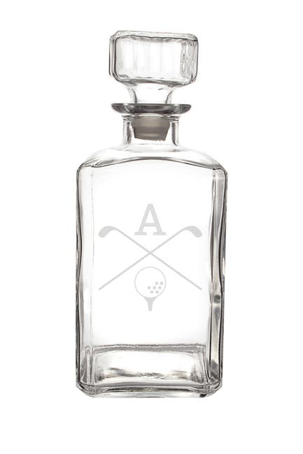 Image of Cathy's Concepts Personalized 34 oz. Golf Glass Decanter - Multiple Letters Available