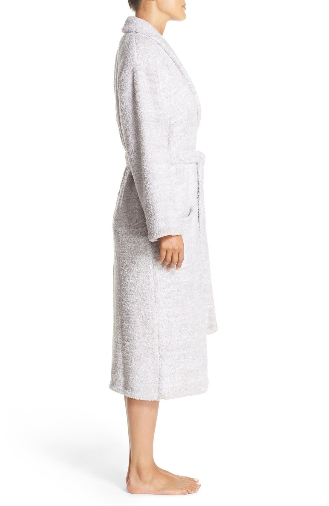 ,                             CozyChic<sup>®</sup> Robe,                             Alternate thumbnail 5, color,                             LIGHT GRAY/ WHITE