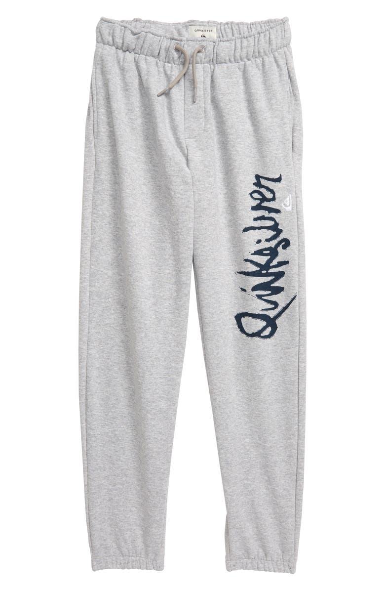 QUIKSILVER Screenprint Sweatpants, Main, color, LIGHT GREY HEATHER