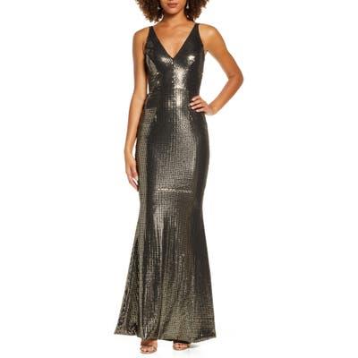 Dress The Population Harper Mermaid Gown, Black