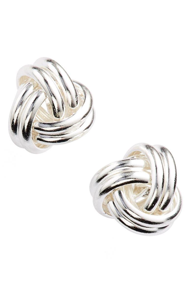ARGENTO VIVO STERLING SILVER Argento Vivo Knot Stud Earrings, Main, color, 040