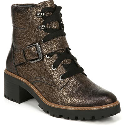 Naturalizer Tia Water Repellent Bootie- Metallic