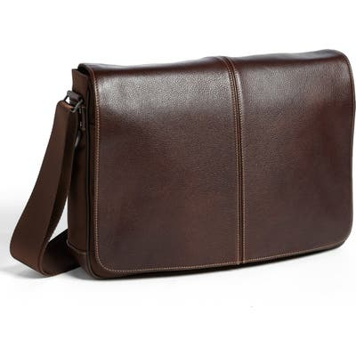 Boconi Tyler Slim Leather Laptop Briefcase -